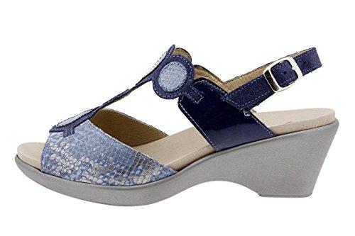 Scarpe donna comfort pelle PieSanto 1857 Sandali Plantare Estraibile larghezza speciale Jeans