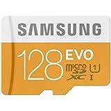 Samsung Speicherkarte MicroSDXC 128GB EVO UHS-I Grade 1 Class 10 Speicherkarte für Smartphones und Tablets, mit SD Adapter