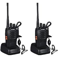 OCDAY baofeng bf-888s Walkie Talkie banda de señal 16CH UHF 400-470 MHz Radio bidireccional recargable con cargador (paquete de 2 radios)
