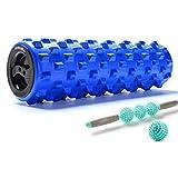 ZQSLD Foam Roller Set, Muskel-Massage, für Muskel Massage und tiefere Entspannungstherapie, 2-in-1-Muskel-Foam Roller Rumble Set für die Übung in Ihren Aching Beinen und Körper,D