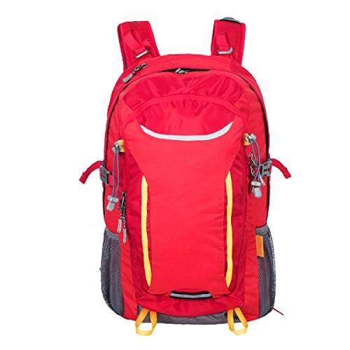 Sacchetto Di Alpinismo Esterno Di Xin.S35L Borsa Di Grande Capacità Impermeabile Usura Borsa A Tracolla Viaggio Sport Zaino A Piedi. 3 Colori Red