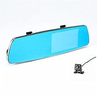 AMYMGLL Ultradünne Rückspiegel Fahren Recorder HD 1296P Dual-Objektiv Blauen Bildschirm Blendschutz 5,0 Zoll Rechten Bildschirm