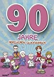 lustige Geburtstagskarte zum 90.