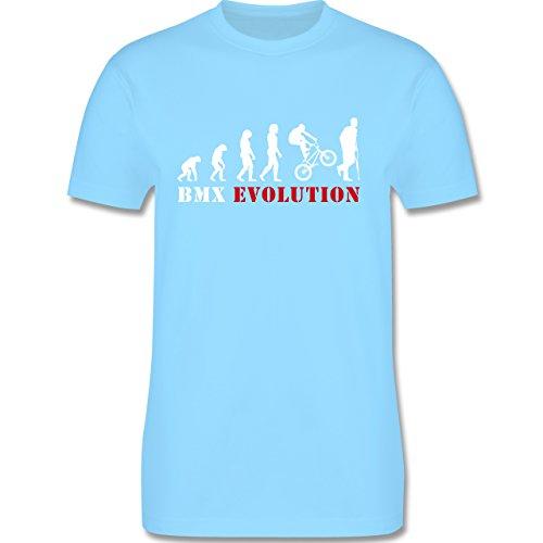 Shirtracer Evolution - BMX Evolution - Herren T-Shirt Rundhals Hellblau