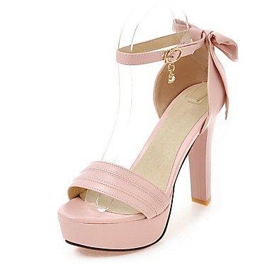 LvYuan Damen-Sandalen-Büro Kleid Party & Festivität-PU-Blockabsatz-Andere-Rosa Weiß Beige Pink