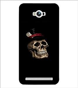 PrintDhaba Skull D-2371 Back Case Cover for ASUS ZENFONE MAX ZC550KL (Multi-Coloured)
