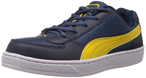 Puma Boy's Contest Lite Jr DP Insignia Blue and Dandelion Boat Shoes - 1C UK  available at amazon for Rs.1934