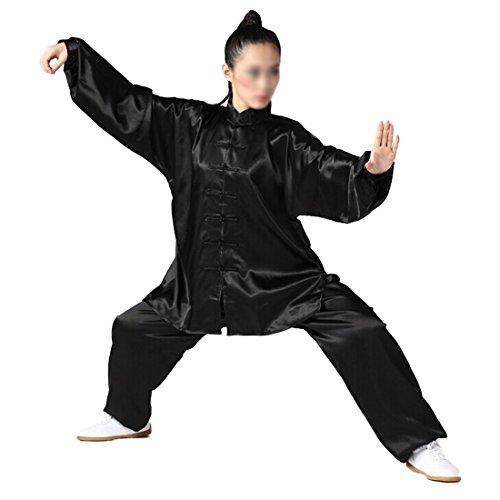 Andux Kampfsport Tai Chi anzug Kung Fu Uniformen Unisex SS-TJF01 Schwarz(L)