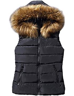Yiiquan - Chaleco - chaqueta guateada - Sin mangas - para mujer
