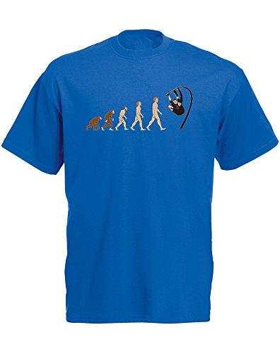 Evolution of Pole Vaulting, Mann Gedruckt T-Shirt Königsblau/Transfer