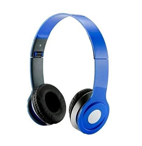 HeadGear 3.5mm Foldable Headphone Headset for Dj Headphone Mp3 M Pc Tablet Music Video and All Other Music Players (Blue)