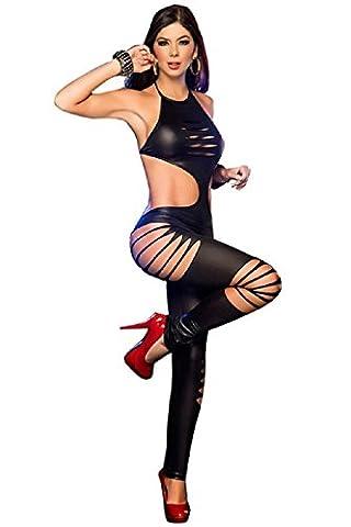 Cat Femme Costumes Sexy - NEW Mesdames noir en imitation cuir réduits