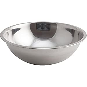 4185rZjFQvL. SS300  - Genware NEV-2075 Mixing Bowl, Stainless Steel, 6L