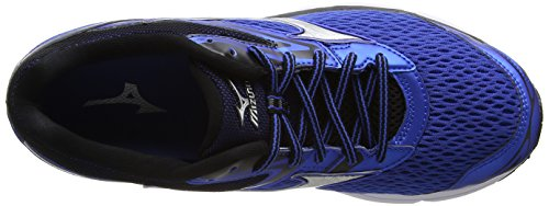 Mizuno Wave Inspire 13, Chaussures de Running Entrainement Homme, Bleu Bleu (Strong Blue/silver/black)