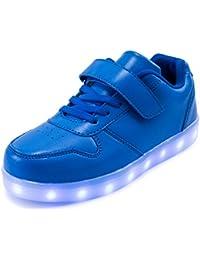 AFFINEST Led Con Luci Sneakers Bright Light USB 7 Colori Bambino Scarpe Lampeggiante bambini ragazzi ragazze regalo Natale Capodanno