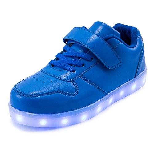 AFFINEST LED leuchtet Schuhe Sneakers mit USB einem Geschenk der Kinder Jungen Mädchen Weihnachten Neujahr (99 1 Kostüm)