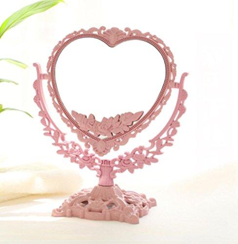 Miroir de maquillage de style européen Miroir de style rétro rétractable 20 * 33cm, 23 * 36.5cm , pink , 6