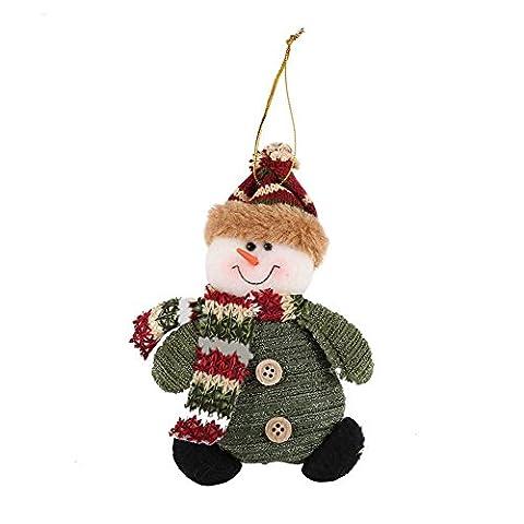 PanDaDa Weihnachtsdekoration Ornamente Weihnachtsmann Schneemann hängende Verzierungen WeihnachtsParty Festival Haupttabellen