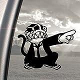 Evil Monkey Black Decal Car Truck Bumper Window Sticker