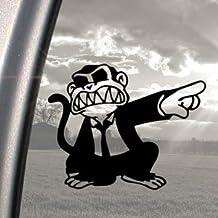 Pegatina para coche, diseño de mono, color negro