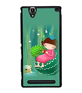 printtech Girly Teddy Back Case Cover for Sony Xperia T2 Ultra , Sony Xperia T2 Ultra Dual