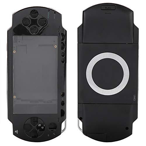 ASHATA Gehäuseabdeckungs-Ersatzgehäusehalterungsset mit Tasten für PSP 1000-Ersatzschale(schwarz) (Gehäuse Psp Abdeckungen Und)