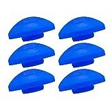 awm® Trampolin Endkappen Set blau 6 Stück Schutzkappen 25 mm Sicherheitsnetz Kappen *Halbrund