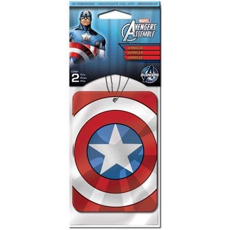 Preisvergleich Produktbild Marvel Autolufterfrischer Captain America, 2 Stück