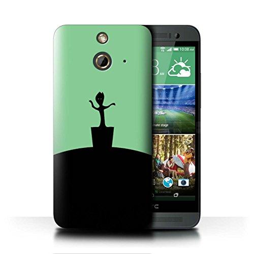 Stuff4® Hülle/Case für HTC One/1 E8 / Baby Groot Inspiriert Muster/Minimalistische Filmkunst Kollektion E8 Handy