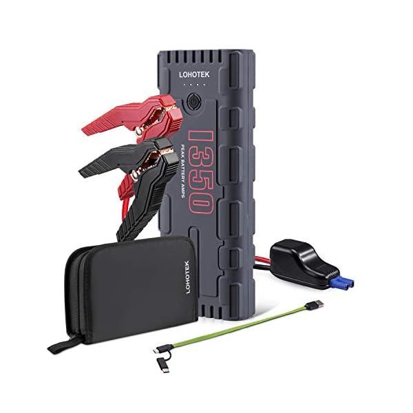 LOHOTEK G17 de Emergencia de Automóvil – 1350A Pico 21600mAh, 12V Arranque Automático de Batería, Booster (hasta 8.0L de Gas, 6.5L Diesel), Paquete Portátil de Alimentación para Automóviles