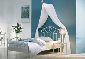 stilbetten bett metallbetten metallbett roman wei 140x200 cm k che haushalt. Black Bedroom Furniture Sets. Home Design Ideas