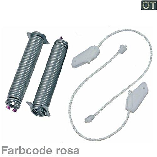 VIOKS Seilzug Feder Türscharnier Reparatursatz für Spülmaschine Geschirrspüler passend wie Bosch Siemens 00754873