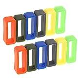 Sharplace 12 Stücke Ersatz Gummi Uhrenarmband Schlaufe Gummihalter für Uhrenarmbänder - 22mm