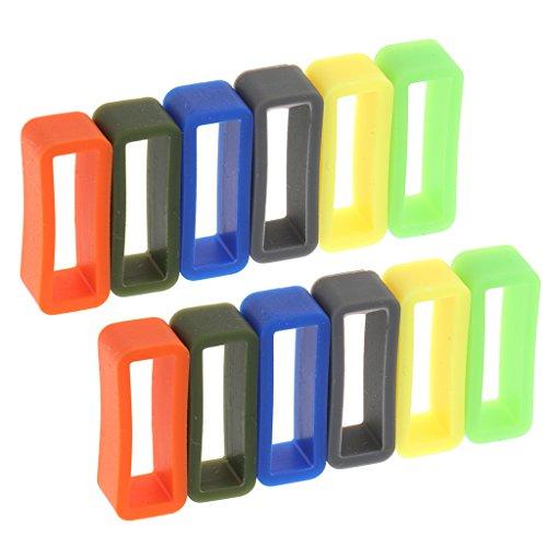 Sharplace 12 Stücke Ersatz Gummi Uhrenarmband Schlaufe Gummihalter für Uhrenarmbänder - 22mm - Uhrenarmband 12mm Gummi