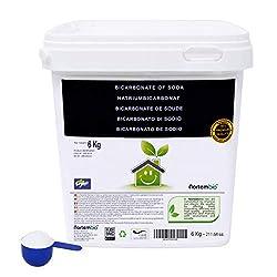 Natron NortemBio 6 Kg. Premium Natriumhydrogencarbonat in Pharmazeutischer Qualität. Ökologischer Input aus natürlichem Ursprung. Natriumbicarbonat. Aluminiumfrei. E-Book Inklusiv.