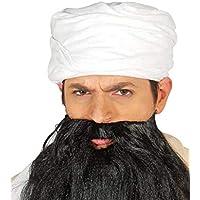 Fiestas Guirca Turbante arabo bianco in tessuto per travestimento sceicco  misura unica uomo 8e4024ad1d8d