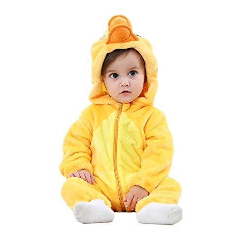 VENIMASEE Baby Kleinkind Flanell Frühling Strampler Pyjama Kostüm Bekleidung Karikatur Tier Jumpsuit Spielanzug Schlafanzug 0-24MO