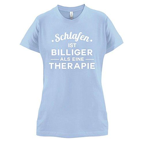 Schlafen ist billiger als eine Therapie - Damen T-Shirt - 14 Farben Himmelblau