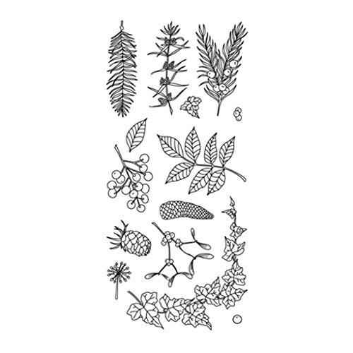 YFairy - Silikon-Dichtungen, Tannenzapfen Zweig, DIY Scrapbooking, Prägung Fotoalbum, Dekoration, Papierkarten-Handwerk, Kunst handgefertigtes Geschenk