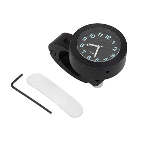 Vorcool Uhr mit leuchtendem Zifferblatt für Motorrad-Lenker, 22,2 m, wasserdicht, schwarz