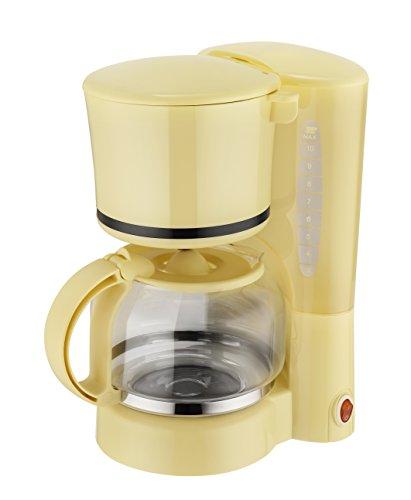 Efbe-Schott Filter-Kaffeemaschine, 1,2 l Fassungsvermögen, Glaskanne, Für bis zu 10 Tassen, 870 W, Vanille, SC KA 1080 V