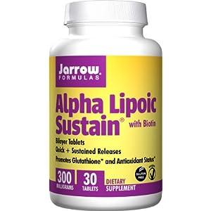 4185ykcSUwL. SS300  - Jarrow Formulas Alpha Lipoic Sustain, 300mg with Biotin - 30 Tabs, 30 Tablet