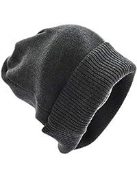 Cappello Femminile Autunno e Inverno Semplice Tinta Unita in Maglia di  Spessore Caldo Versione Coreana Lana Selvaggio Inverno Femminile… b7af6deca2ff