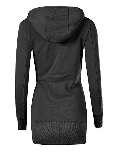 Diva-Jeans - Sweat-shirt - Blouson - Uni - Manches Longues - Femme Noir