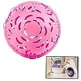 Anti-Avvolgimento Eco Friendly Washing Ball Mano Sfera della Lavanderia per La Lavatrice (Rosa)