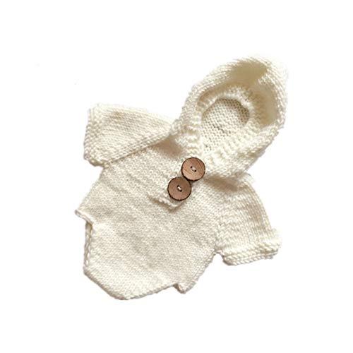 NROCF Fotografie siamesischen Anzug, Neugeborenes Baby Boy häkeln Kleidung Fotografie Fotografie Requisiten Hut Kostüm,White Baby Boy-white-hosen