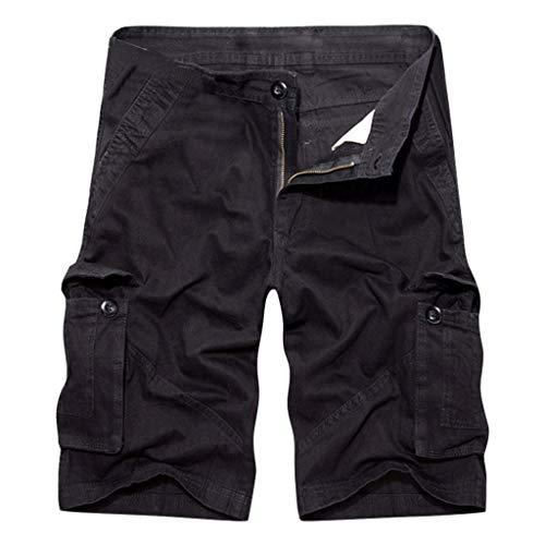 Polo Cord-jacke (Shorts Herren Reißverschlusstaschen Pure Farbe Draußen Strand Beiläufig Arbeit Cargo Hose)