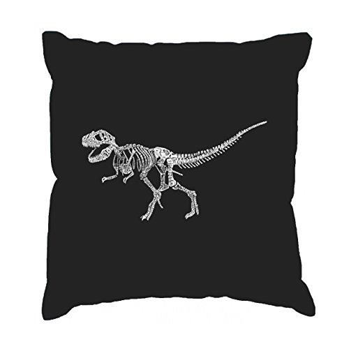 Arte de la palabra manta funda de almohada–Dinosaurio T-Rex esqueleto