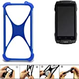 K-S-Trade Handyhülle für Cyrus CS 30 Silikon Schutz Hülle Cover Case Bumper Silikoncase TPU Softcase Schutzhülle Smartphone Stoßschutz, blau (1x)