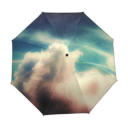ef6be8aba98f YUYUUUStar Galaxy Space Universe Nebula Cloud Custom Foldable Rain Umbrella  Women DIY Anti UV Umbrellas Men Windproof Rain Gear